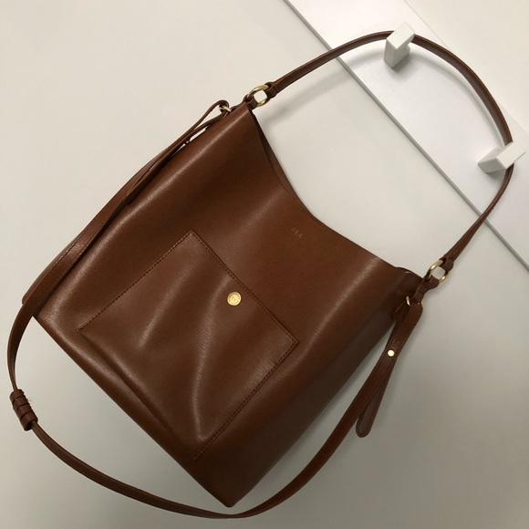 e6b05758aea1 Lauren Ralph Lauren Handbags - Lauren Ralph Lauren Newbury Pocket Hobo Tan